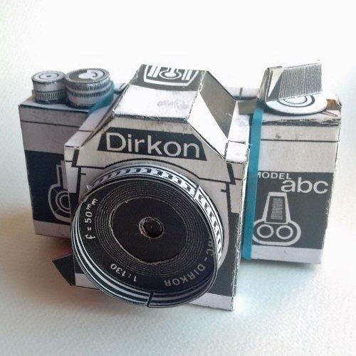 Dirkon paper pinhole camera