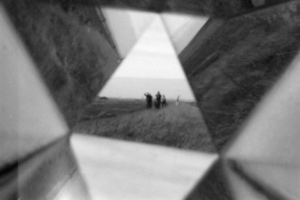 Pinhole Vortoscope, Musselburgh. Kentmere 400 film, Olympus OM1n. D. Tainsh.