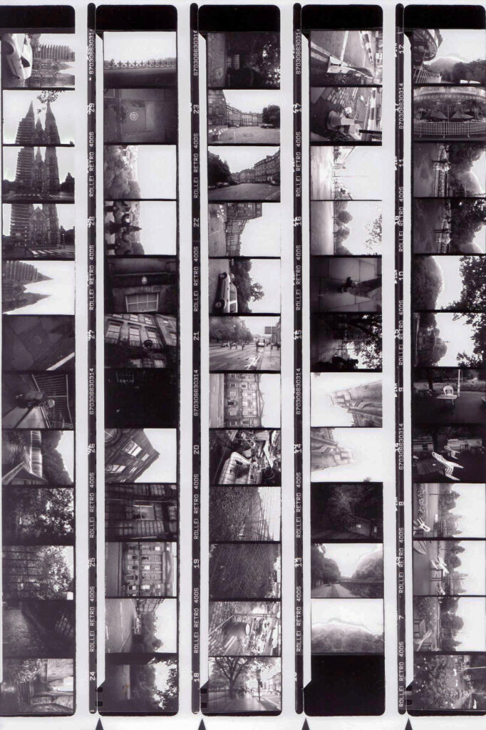Black and white contact sheet
